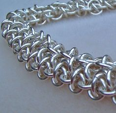 Sterling Silver Lacy #Chainmaille_Bracelet by #ShazzabethCreations, $210.00 #jewelryonetsy #jetteam