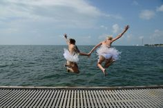 This post has brides jumping into the Gulf of Mexico in tutus. But resist the temptation to scroll right to the end! Kristin and Kristine's Key West wedding last October had a lot more awesom…