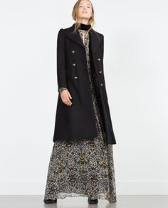 Image 1 of MILITARY STYLE COAT from Zara