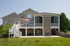 Great two-story makeover.  Portfolio - The Porch Company.