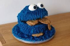 Image result for cookie monster cake