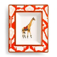 Ikat Giraffe Plate - View All - Shop by Category - Home & Decor