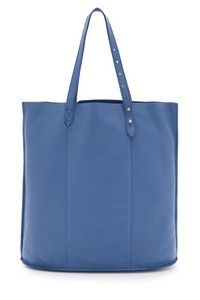 A colorful Madewell tote crafted from supple leather. Top handles adjust with the double stud design. Open top and unlined interior. Leather: Cowhide. Weight: 14oz / 0.4kg. Imported, China. Measurements Height: 16.25in / 41cm Length: 16.25in / 41cm Depth: 4.75in / 12cm Handle drop: 8.25in / 21cm