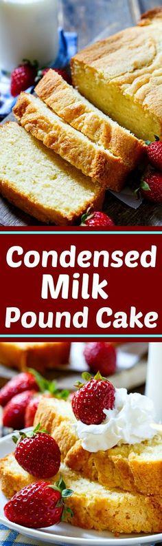 Condensed Milk Pound Cake   Cake And Food Recipe