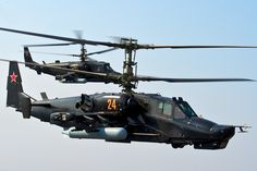 "Russian Kamov Ka-50 ""Black Shark"" Co-axial Attack Helicopter."