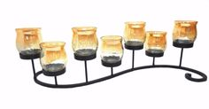Tin light candle stand