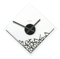 Found it at Wayfair - Dropped Numerals Glass Wall Clock Unusual Clocks, Cool Clocks, Cadeau Design, Clocks For Sale, Tabletop Clocks, Wall Clock Design, Clock Decor, Wooden Clock, Unusual Things