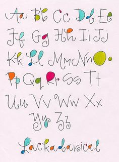 Alphabet Lackadaisical by Robin… Hand Lettering Fonts, Doodle Lettering, Creative Lettering, Lettering Styles, Handwriting Fonts, Penmanship, Lettering Ideas, Calligraphy Letters, Typography Letters