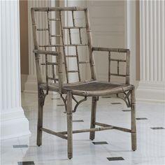 Global Views Cathay Arm Chair Sandblasted
