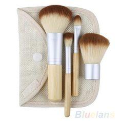 Natural Earth friendly bamboo brush set #makeup #beauty #brushes #mineralmakeup #cosmetics #natural #Earth #friendly
