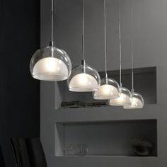 Bekijk de foto van Polyfinario met als titel Hanglamp Lido met vijf kappen misschien voor boven de eettafel? en andere inspirerende plaatjes op Welke.nl.