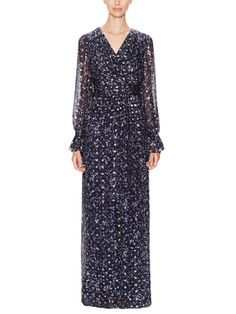 Silk Lamé Embellished Gown from Designer Eveningwear: Up to 75% Off on Gilt