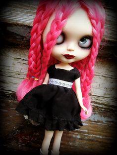 Blythe Little Black Silk Dress by cindysowers on Etsy, $40.00