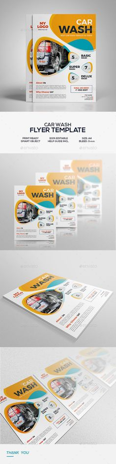 Car Wash Flyer Template Business flyers, Car wash and Flyer template - car wash flyer template