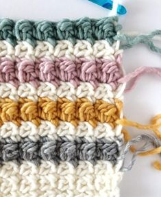 Crochet Edging Crochet Even Berry Stitch Blanket Pattern - Tunisian Crochet Stitches, Crochet Stitches Patterns, Love Crochet, Crochet Gifts, Chunky Crochet, Diy Crochet, Farm Crafts, Easy Crochet Projects, Crochet Borders
