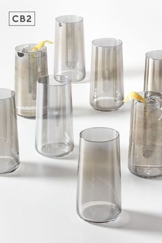 Drinkware, Barware, Old Fashioned Glass, Grey Glass, Classic Cocktails, Drinking Glass, Luster, Organizing, Kitchen Ideas