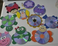 CDs bichinhos de eva Barn Crafts, Music Crafts, Hobbies And Crafts, Arts And Crafts, Easter Crafts For Kids, Toddler Crafts, Cd Diy, Preschool Art Activities, Playroom Decor