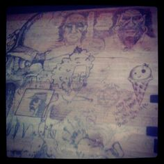 Drawing on your desk is encouraged here