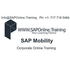 SAP Online Training Offering Corporate Online Training Services on SAP Mobility.Training Services For Both Individuals and Corporate.For Individuals Fast Track | WeekDays | WeekEnd Training Avilable.For Corporate Companies We are Offering Online and In-House Training Services. Contact :- Info@SAPOnline.Tr... Ph:- +1 717 718 5484 #SAP #Mobility #Online #Training #Corporate