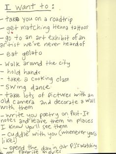 I think my husband and I need to do this list and add a few more things Pretty Words, Beautiful Words, Journaling, Hopeless Romantic, Love Letters, Mood Quotes, Make Me Happy, Relationship Goals, Self