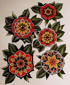 traditional flower tattoo - Google Search