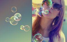 Preview wallpaper girl, bubbles, sunglasses