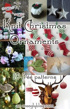 free knit christmas ornament patterns free ornament patterns christmas ornaments knitted