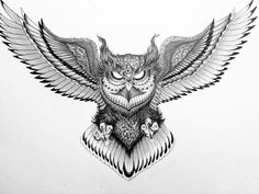 Owl Neck Tattoo, Owl Tattoo Chest, Chest Piece Tattoos, Arm Tattoo, Body Art Tattoos, Small Tattoos, Sleeve Tattoos, Tattoos For Guys, Arabic Tattoos
