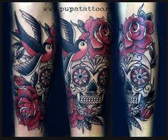 Tatuaje Calavera, Pupa Tattoo, Granada