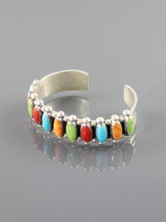 Multi Colored Oval Row Cuff