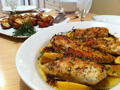Use skinless chicken and cut out the oil and this is Phase 2 approved! Lemon herb baked chicken