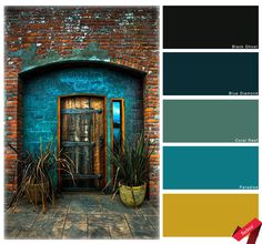 Third year students were set to task the colour palettes of exotic doors #thedoors