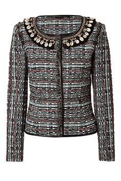 STYLEBOP.com | Black/White Shell Embroidered Jacket by MATTHEW WILLIAMSON | the latest trends from the capitals of the world