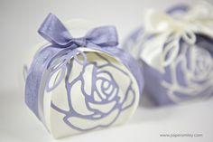 Zierschachtel mit Rosen mit Material von Stampin Up! - curvy keepsake box with rose garden thinlits