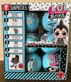 NEW LOL Surprise Boy Dolls Series 1 Case of 18 Balls w/7 Layers of Fun #LOLSurprise