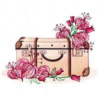 Vintage Suitcases - Embroidery Delight   OregonPatchWorks