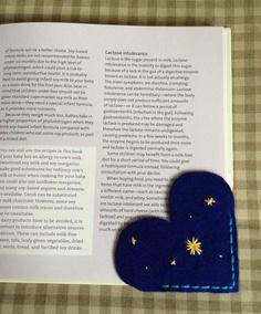 Night Sky Felt Corner Bookmark by GrahamFarmhouse on Etsy