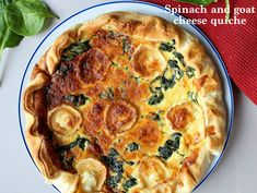 spinach and goat cheese quiche, for an easy dinner.