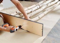 Instructions Decorations made of birch trunks BAUHAUS Switzerland Source by uschilacher - diy-home-decor Diy Furniture Plans, Home Furniture, Bauhaus, Deco Spa, Palette Diy, Diy Home Decor, Room Decor, Best Ikea, Diy Pallet Projects