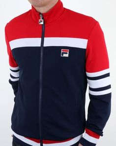 4ef69b8b4a38 Fila Vintage Courto Track Jacket Navy,top,tracksuit,vilas,borg,mens