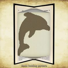 Book folding pattern Dolphin for 120 folds - ID0000275