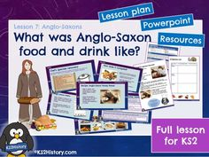 A full lesson for about Anglo-Saxon food, including a detailed lesson plan, Powerpoint and pupil resource sheets. What was Anglo-Saxon food and drink l. Tudor History, European History, British History, History Books, Primary History, Teaching History, Teaching Resources, Strange History, History Facts