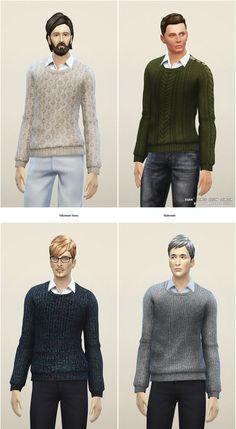 Rusty Nail: Basic sweater M • Sims 4 Downloads
