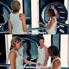 Because it depends on how pure/damaged you are. I ❤️ allegiant sm Divergent Hunger Games, Divergent Fandom, Divergent Funny, Divergent Trilogy, Tfios, Insurgent Quotes, Divergent Insurgent Allegiant, Divergent Quotes, Fangirl Book