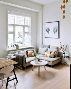 22 Tips to Make Your Tiny Living Room Feel Bigger via Brit + Co