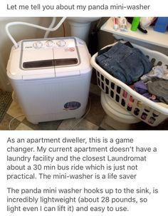 This was included wi Apartment Life Hacks, Tiny Apartment Living, First Apartment, Tiny Living, Apartment Essentials, Apartment Washer, Pay Off Debt, Mini Dryer, Life Tips