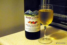 Peaks of Otter Wine (Virginia)... The blueberry muffin wine is the best