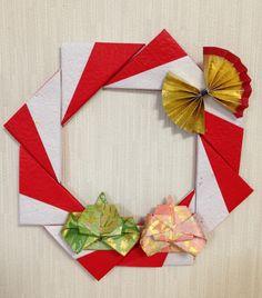 折り紙で作ったお雛様のリース♡♡ひな祭りに!