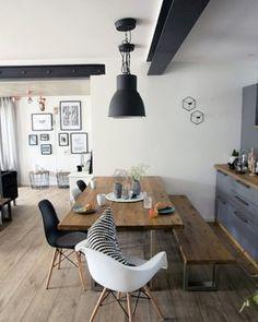 Sonntags..... #esszimmer #diningroom #eames holztisch #bilderwand #küche #kitchen Foto: Kerstin9183