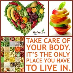 Take care of your body. It`s the only place you have to live in :) #Food2Live #BeHealthy #HealthyQuotes #FreshFood